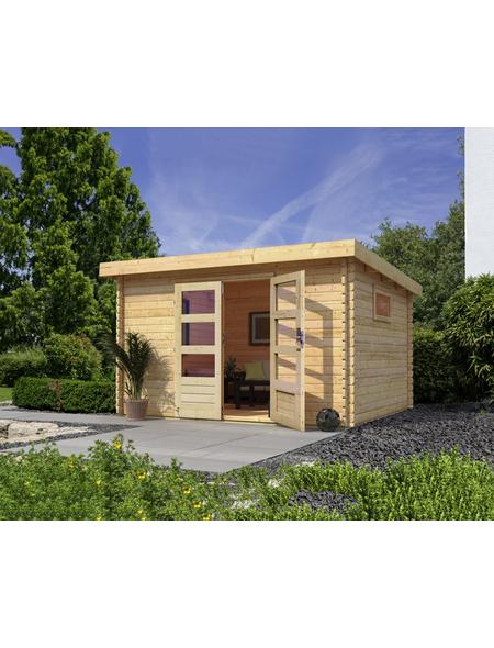 WOODFEELING Gartenhaus, BxT: 377 x 333 cm (Aufstellmaße), Pultdach