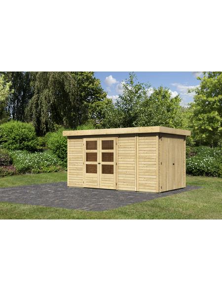 WOODFEELING Gartenhaus, BxT: 404 x 238 cm (Aufstellmaße), Flachdach