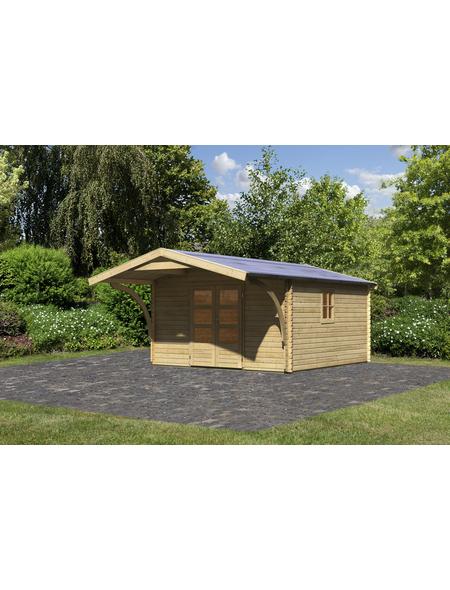 WOODFEELING Gartenhaus, BxT: 404 x 410 cm (Aufstellmaße), Satteldach