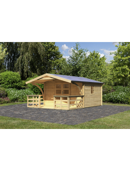 WOODFEELING Gartenhaus, BxT: 404 x 475 cm (Aufstellmaße), Satteldach