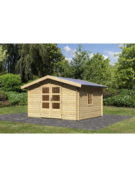 WOODFEELING Gartenhaus, BxT: 405 x 324 cm (Aufstellmaße), Satteldach
