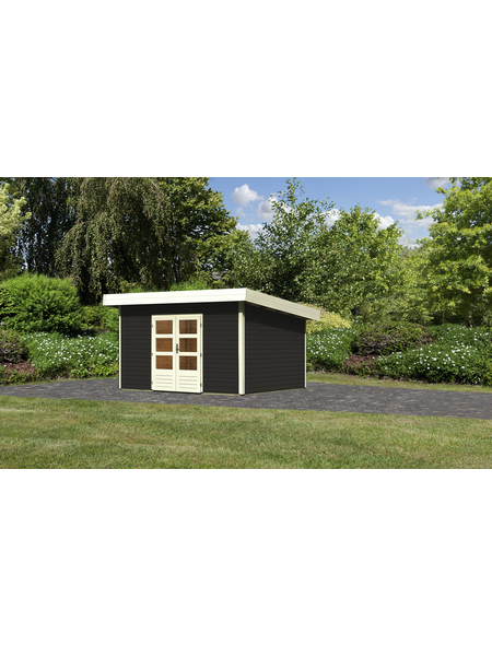 WOODFEELING Gartenhaus, BxT: 419 x 360 cm (Aufstellmaße), Pultdach