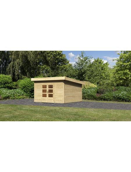 WOODFEELING Gartenhaus, BxT: 419 x 420 cm (Aufstellmaße), Pultdach
