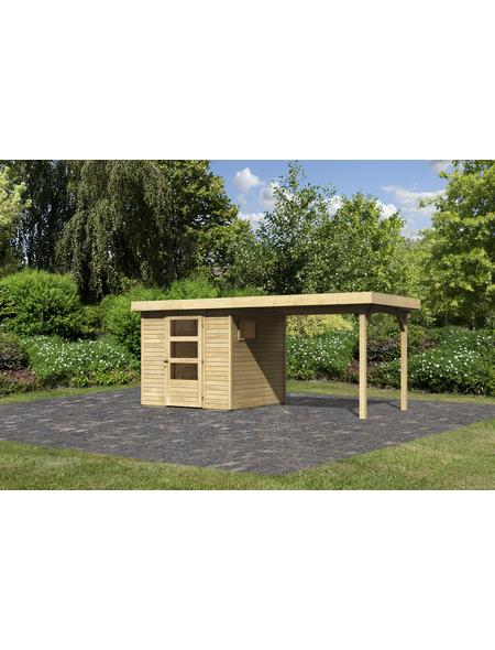 WOODFEELING Gartenhaus, BxT: 433 x 217 cm (Außenmaße), Dachplatte