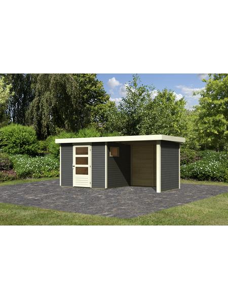 WOODFEELING Gartenhaus, BxT: 462 x 217 cm (Außenmaße), Dachplatte