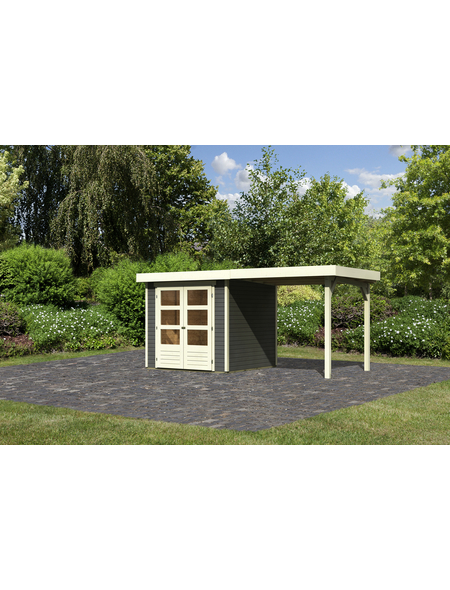 WOODFEELING Gartenhaus, BxT: 467 x 238 cm (Aufstellmaße), Flachdach