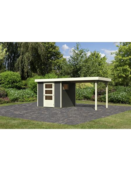 WOODFEELING Gartenhaus, BxT: 468 x 217 cm (Außenmaße), Dachplatte