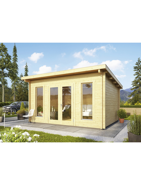 WOODFEELING Gartenhaus, BxT: 490 x 420 cm (Aufstellmaße), Pultdach