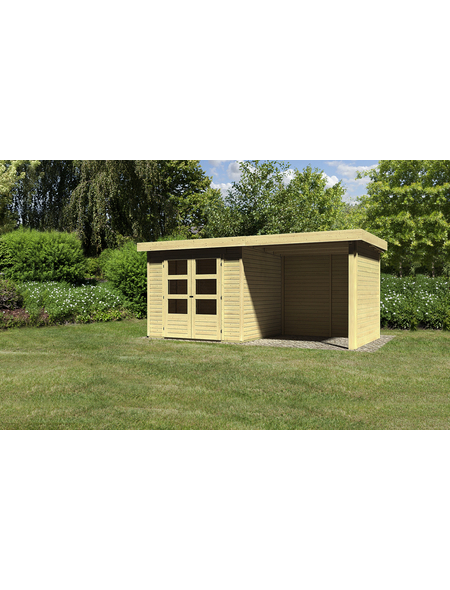 WOODFEELING Gartenhaus, BxT: 491 x 238 cm (Aufstellmaße), Flachdach