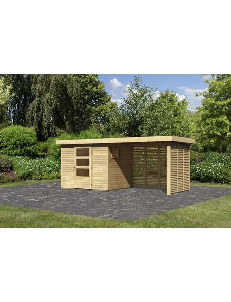 WOODFEELING Gartenhaus, BxT: 497 x 217 cm (Außenmaße), Dachplatte