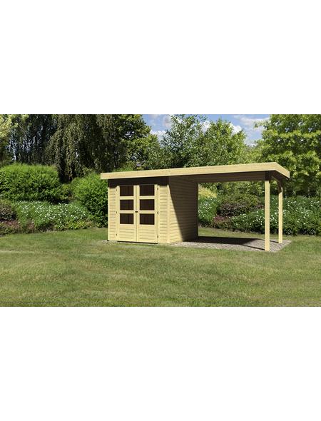 WOODFEELING Gartenhaus, BxT: 504.5 x 238 cm (Aufstellmaße), Flachdach