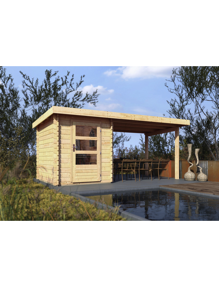 WOODFEELING Gartenhaus, BxT: 509 x 256 cm (Aufstellmaße), Pultdach