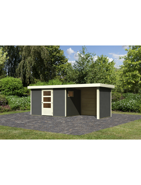 WOODFEELING Gartenhaus, BxT: 522 x 217 cm (Außenmaße), Dachplatte
