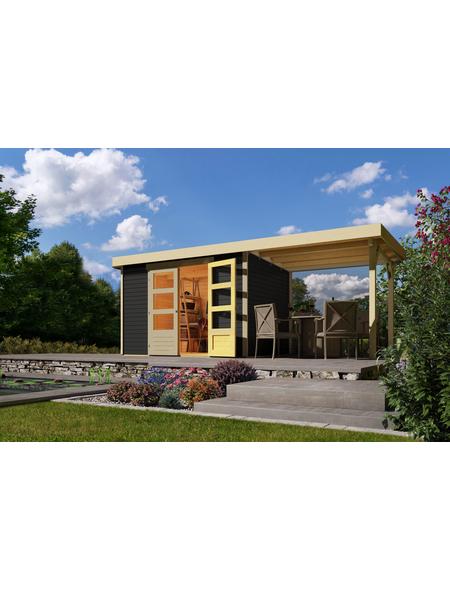 WOODFEELING Gartenhaus, BxT: 526 x 217 cm, Flachdach