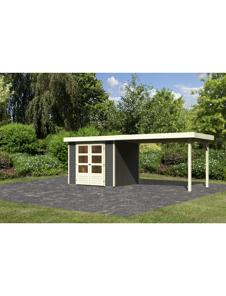 WOODFEELING Gartenhaus, BxT: 528.5 x 238 cm (Aufstellmaße), Flachdach