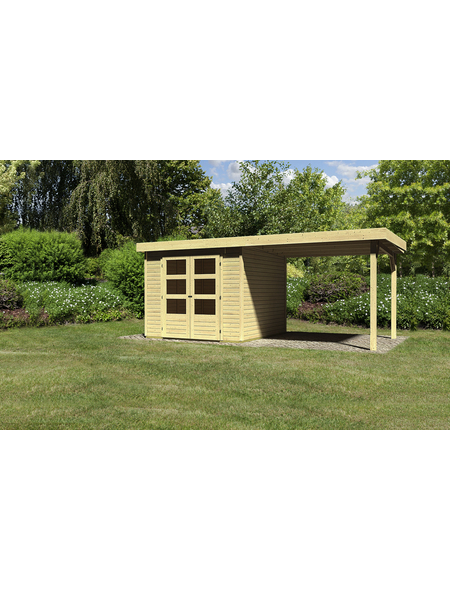 WOODFEELING Gartenhaus, BxT: 528.5 x 262 cm (Aufstellmaße), Flachdach