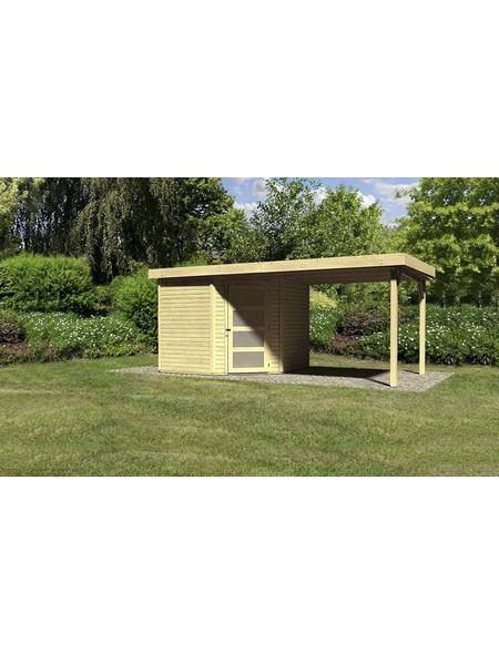 WOODFEELING Gartenhaus, BxT: 530 x 262 cm (Aufstellmaße), Flachdach