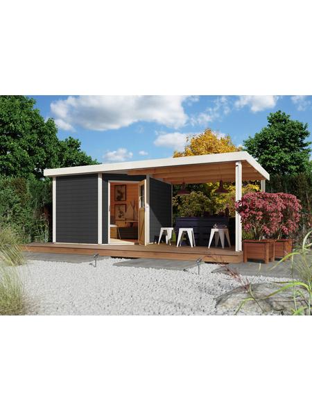 WOODFEELING Gartenhaus, BxT: 552 x 303 cm (Aufstellmaße), Flachdach
