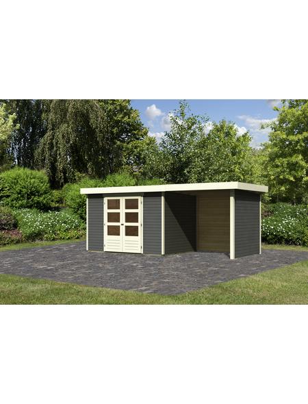 WOODFEELING Gartenhaus, BxT: 554 x 238 cm (Aufstellmaße), Flachdach