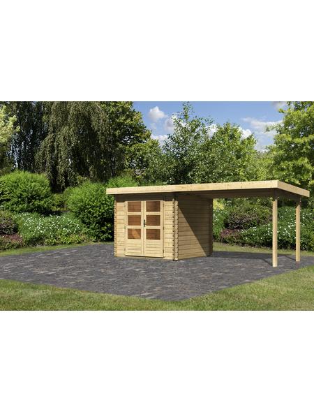 WOODFEELING Gartenhaus, BxT: 554 x 273 cm (Aufstellmaße), Pultdach