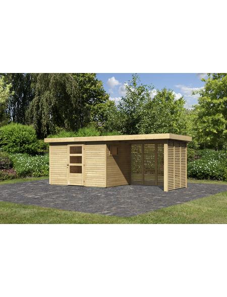 WOODFEELING Gartenhaus, BxT: 557 x 217 cm (Außenmaße), Dachplatte