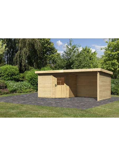 WOODFEELING Gartenhaus, BxT: 585 x 273 cm (Aufstellmaße), Flachdach