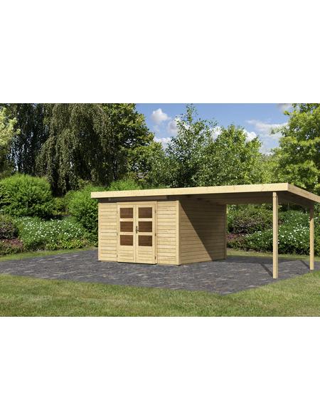WOODFEELING Gartenhaus, BxT: 644 x 332 cm (Aufstellmaße), Pultdach