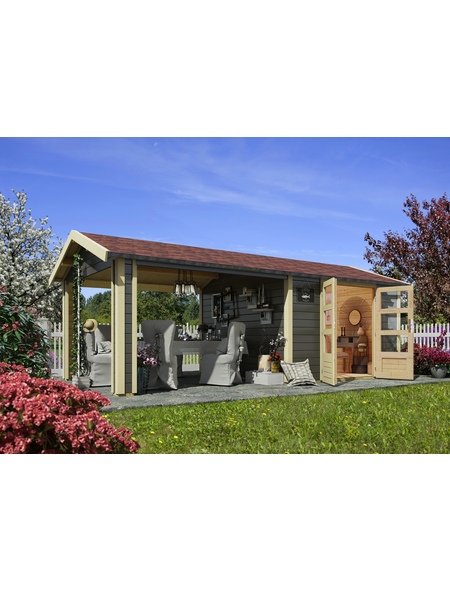 WOODFEELING Gartenhaus, BxT: 648 x 348 cm (Aufstellmaße), Satteldach
