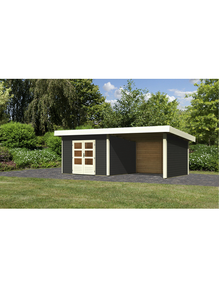 WOODFEELING Gartenhaus, BxT: 664 x 360 cm (Aufstellmaße), Pultdach