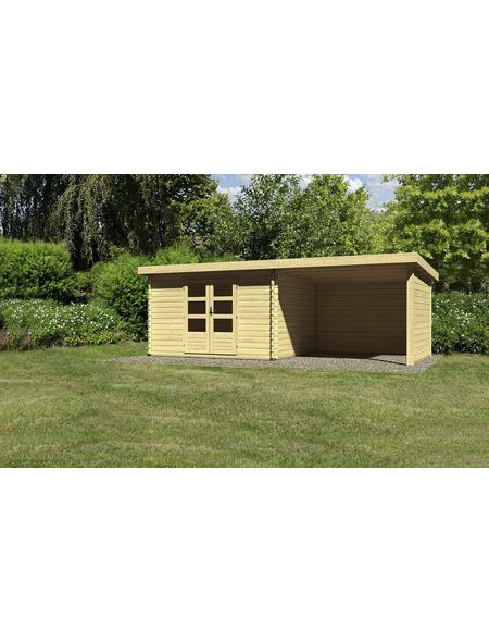 WOODFEELING Gartenhaus, BxT: 674.5 x 333 cm (Aufstellmaße), Pultdach