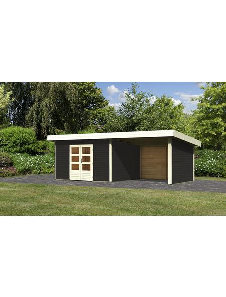WOODFEELING Gartenhaus, BxT: 724 x 360 cm (Aufstellmaße), Pultdach