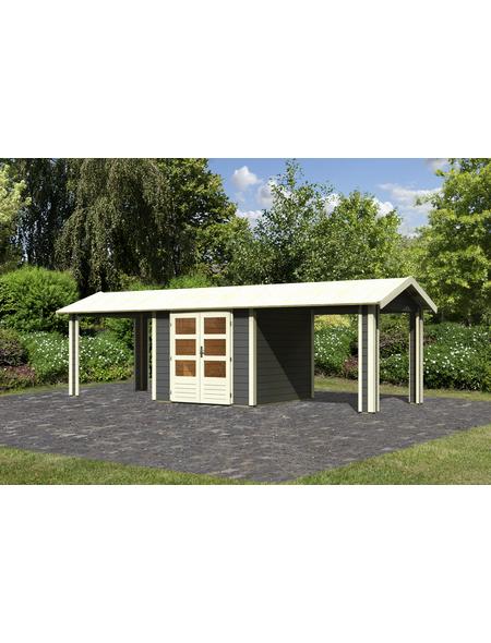 WOODFEELING Gartenhaus, BxT: 767 x 288 cm (Aufstellmaße), Satteldach
