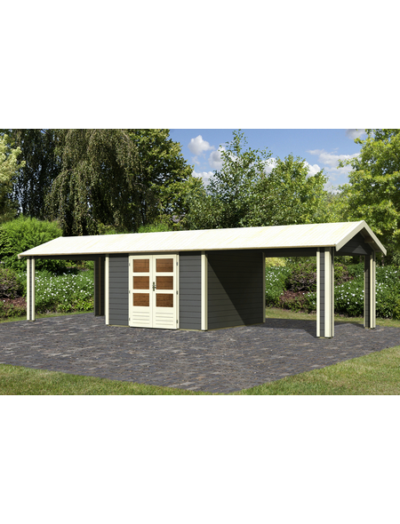 WOODFEELING Gartenhaus, BxT: 947 x 348 cm (Aufstellmaße), Satteldach