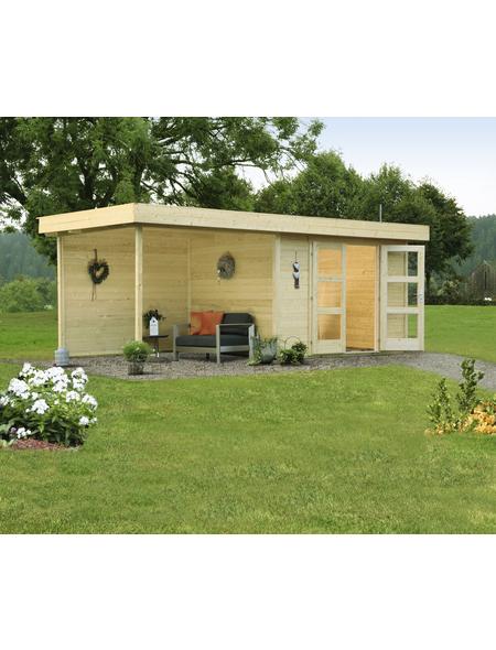 WOLFF FINNHAUS Gartenhaus »Calais«, BxT: 595 x 310 cm, Flachdach