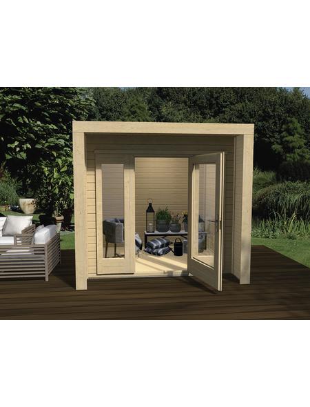 WEKA Gartenhaus »Design Gartenhaus 263 Gr.1«, BxT: 245 x 250 cm, Flachdach