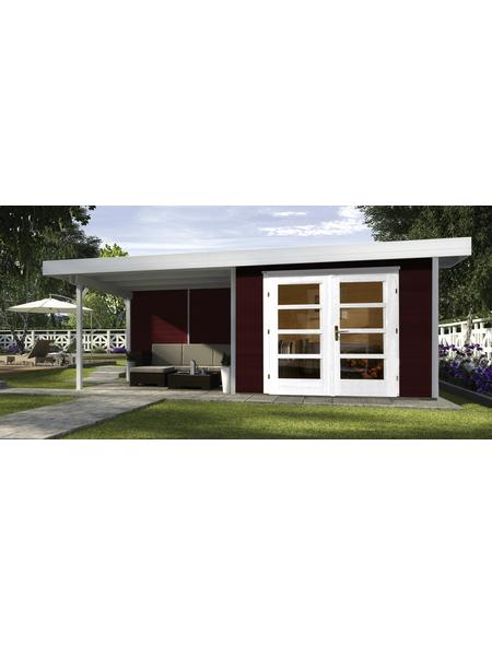 WEKA Gartenhaus »Designhaus 126 B Gr.1«, BxT: 651 x 314 cm, Flachdach