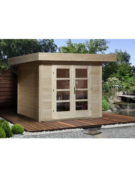 WEKA Gartenhaus »Designhaus 126 Gr.3«, B x T: 356 x 375 cm, Flachdach