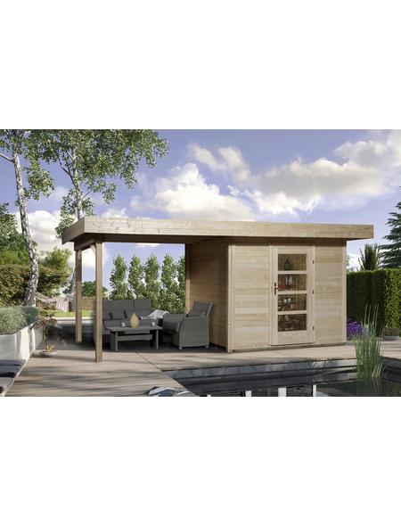 WEKA Gartenhaus »Designhaus 172 B Gr.2«, BxT: 575 x 375 cm, Flachdach