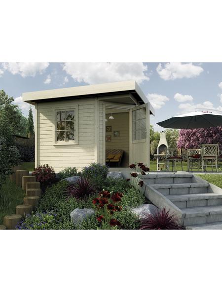 WEKA Gartenhaus »Designhaus 213«, B x T: 278 x 278 cm, Flachdach, inkl. Fußboden