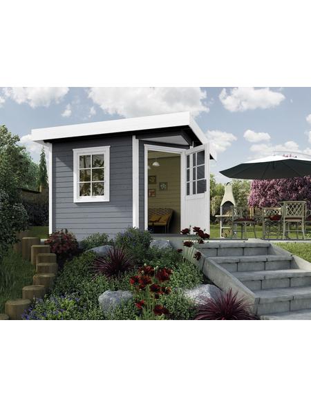 WEKA Gartenhaus »Designhaus 213«, BxT: 278 x 278 cm (Aufstellmaße), Flachdach