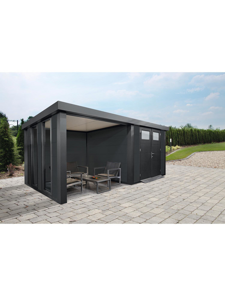WOLFF FINNHAUS Gartenhaus »Eleganto 2724«, Außenmaße B x T: 552  x 238  cm