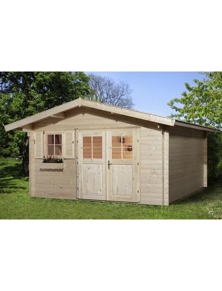 WEKA Gartenhaus »Gartenhaus 111 Gr.2«, BxT: 460 x 370 cm, Satteldach