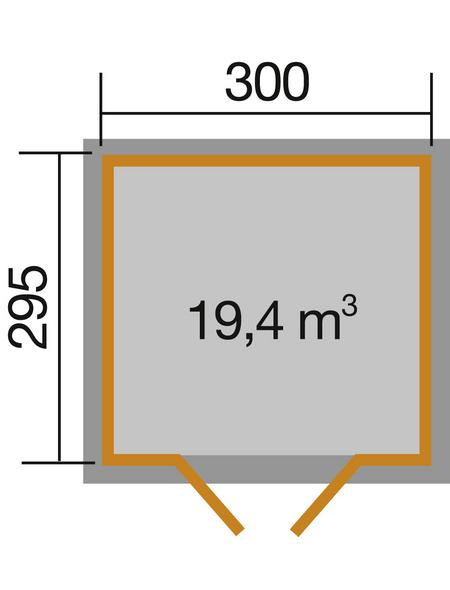 WEKA Gartenhaus »Gartenhaus 122 Gr.5«, BxT: 380 x 320 cm, Satteldach