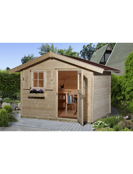 WEKA Gartenhaus »Gartenhaus 123 Gr.3«, BxT: 390 x 238 cm (Aufstellmaße), Satteldach