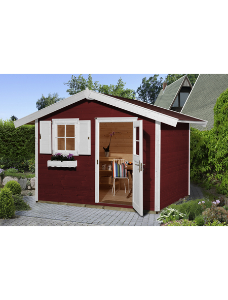 Weka Gartenhaus Gartenhaus 123 Gr 3 Bxt 390 X 238 Cm Aufstellmasse Satteldach Hagebau De