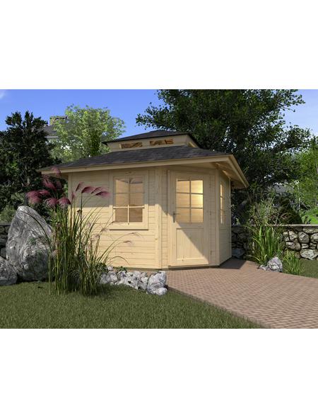 WEKA Gartenhaus »Gartenhaus 149 5-Eck «, BxT: 380 x 380 cm, Zeltdach