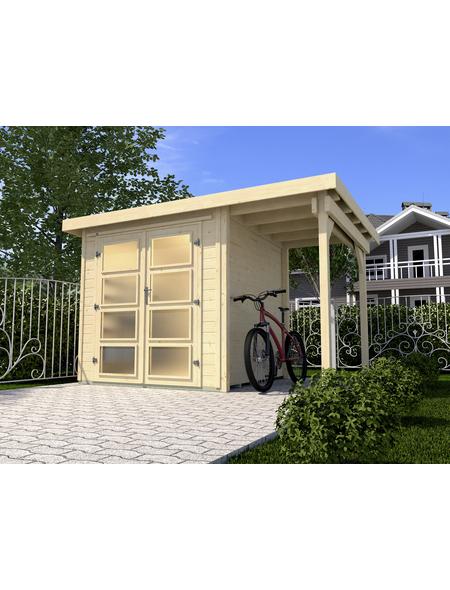WEKA Gartenhaus »Gartenhaus 321 A Gr.1«, BxT: 337 x 237 cm (Aufstellmaße), Flachdach