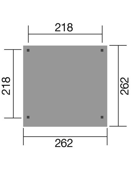 WEKA Gartenhaus »Gartenlaube 657 Gr.1 «, BxT: 262 x 262 cm, Flachdach