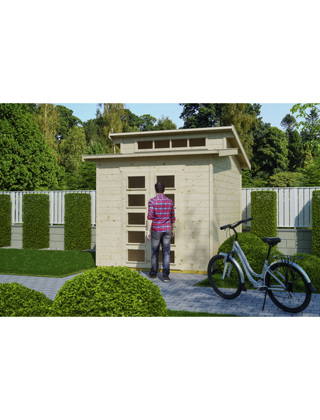 SKANHOLZ Gartenhaus »Gent«, B x T: 290 x 290 cm