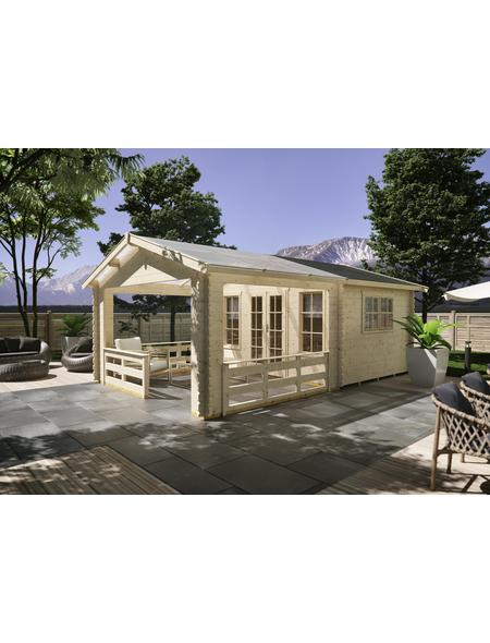 SKANHOLZ Gartenhaus »Holmestrand«, BxT: 420 x 650 cm (Aufstellmaße), Satteldach